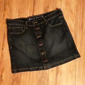 Old Navy Denim Short Skirt Buttons Size 8